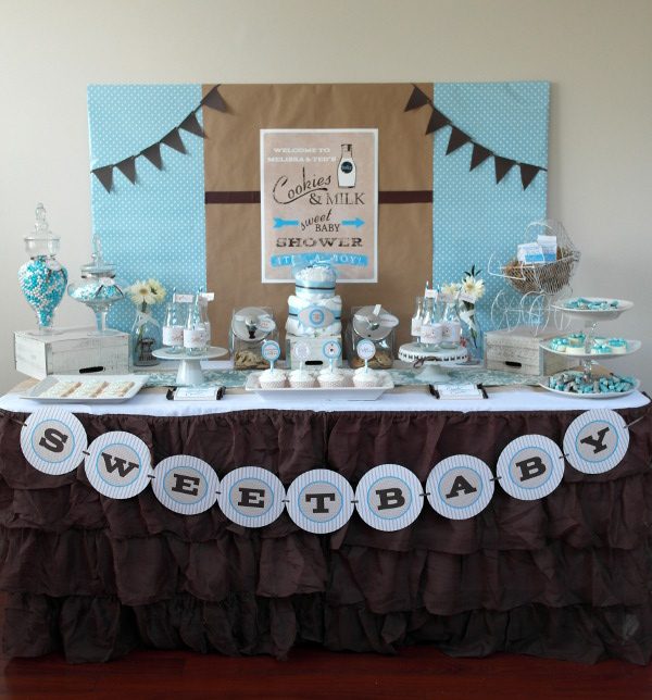 Sweet Milk and Cookies Baby Shower Linky Cohosted by Frog Prince Paperie