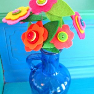 Button Bouquet Flower Tutorial