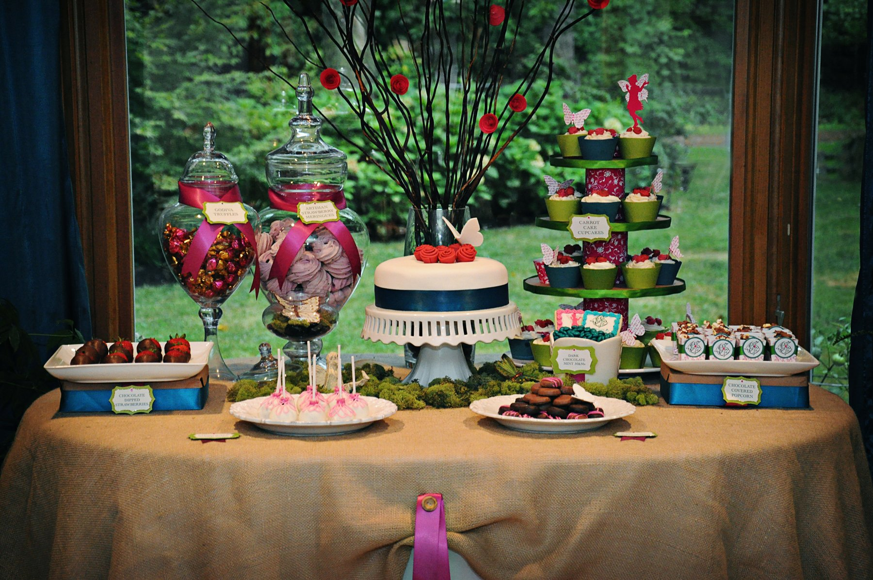 midsummer fairy dessert table