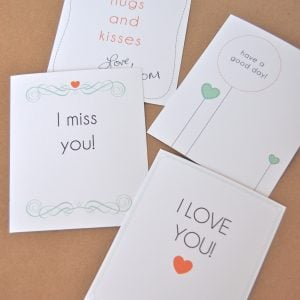 Free Printable: Lunch Box Love Notes