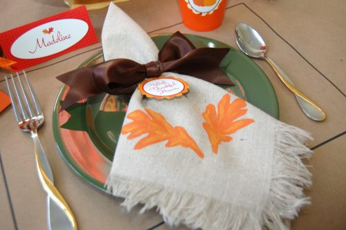 painted thanksgiving napkins