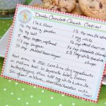 {Free} Gingerbread Christmas Cookies Free Printable Recipe Card