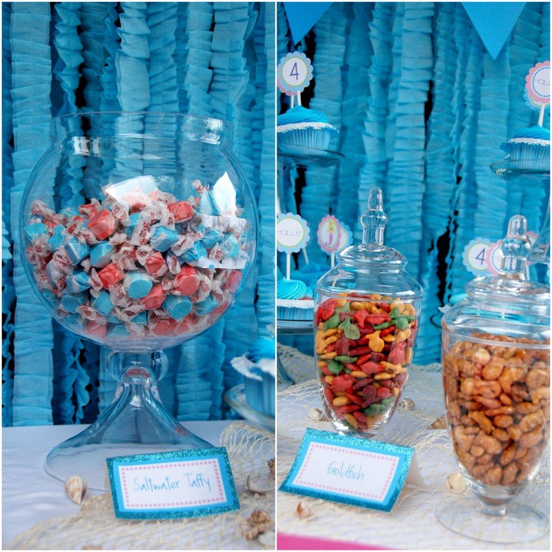 Little mermaid birthday party crafts ideas for Ariel party decoration ideas