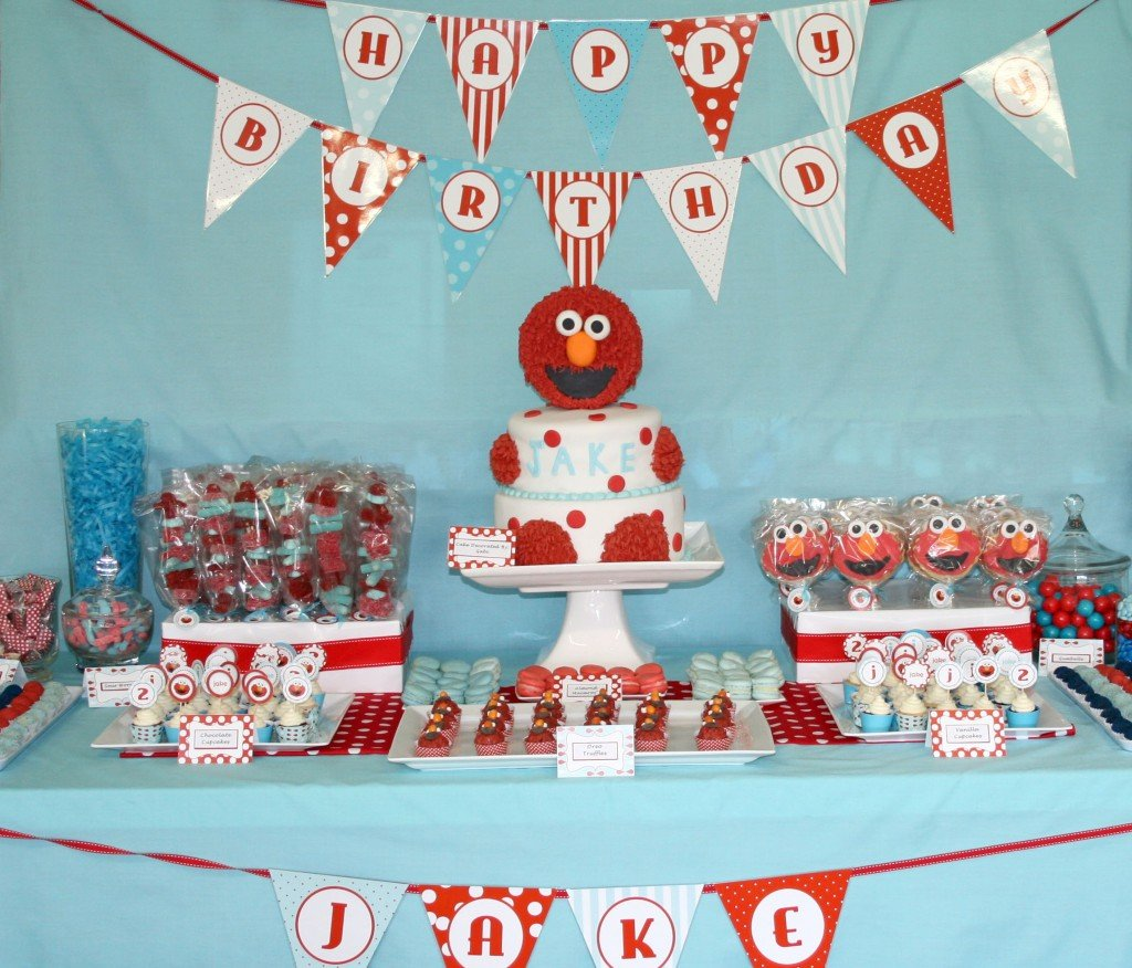 Elmo baby shower decorations best baby decoration for Baby birthday party decoration