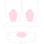 {Free Printable} Bunny Hop Bunny Ears and Nose Photo Props