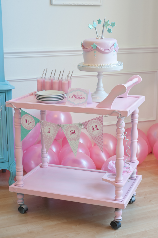 Make a Wish birthday party in pinks and blues