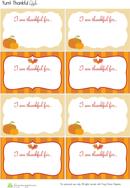 Crafty image within free printable thanksgiving tags