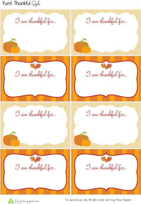 Thankful for YOU! {Free Printable}Frog Prince Paperie