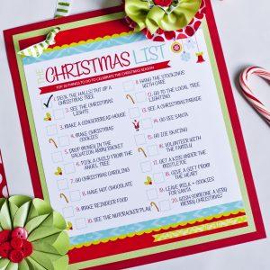 THE Christmas To-Do List {Free Printable}