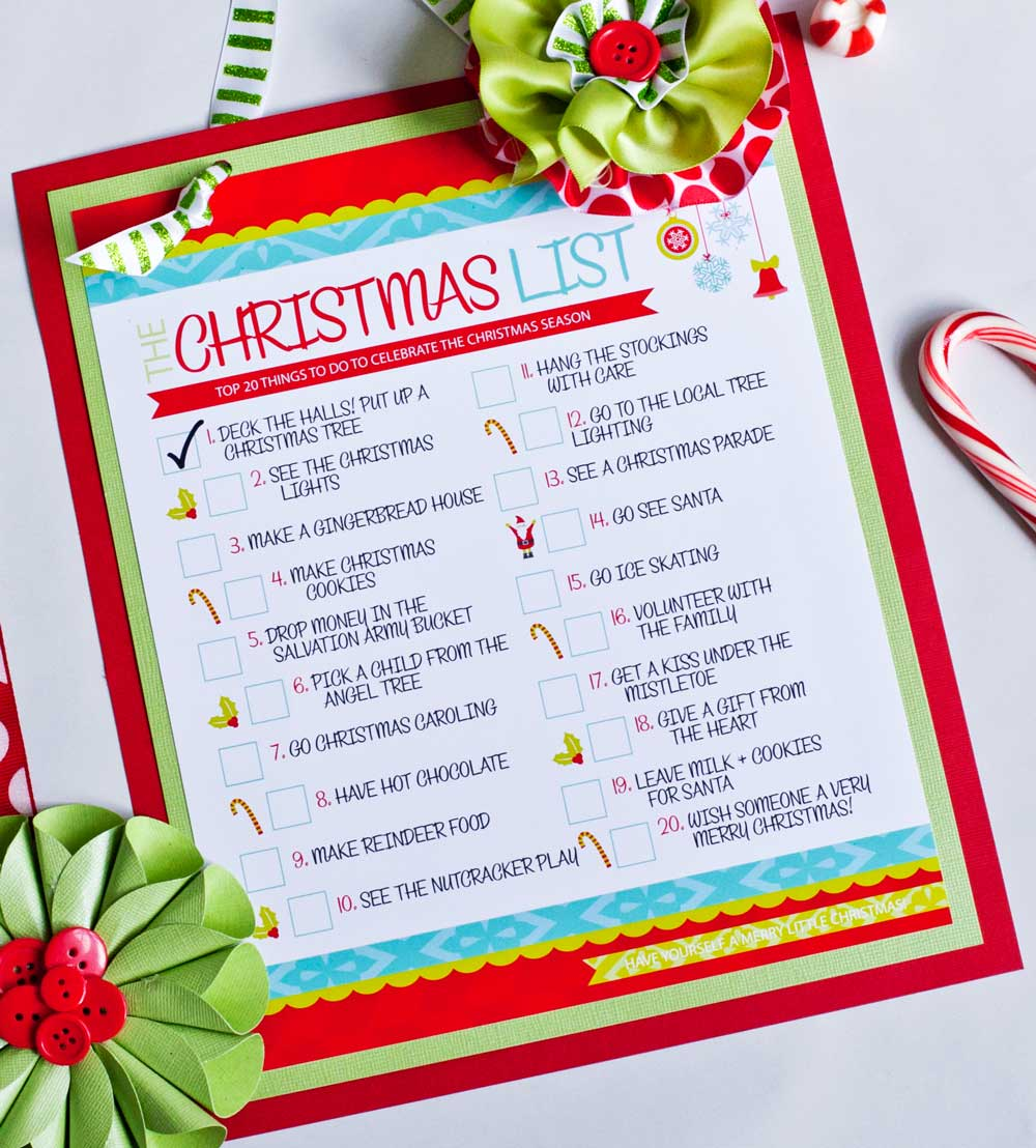 THE Christmas To-Do List {Free Printable} - Frog Prince Paperie