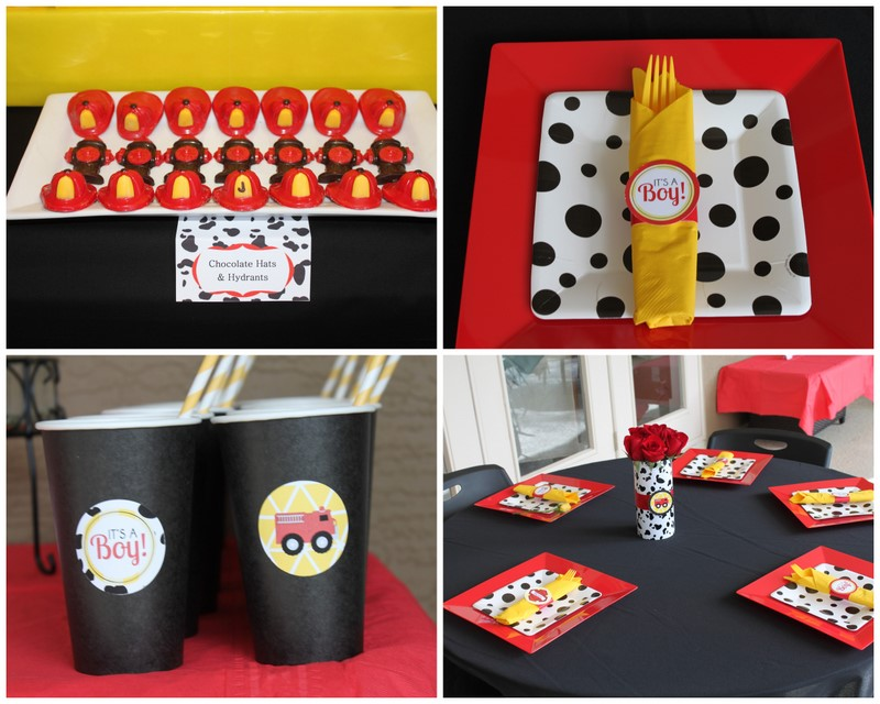 REAL PARTY} Fireman Baby Shower - Frog Prince Paperie