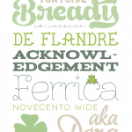 A Tiny Bit of Green Typography {Free Fonts}