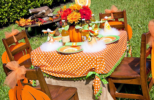 Little pumpkin fall harvest party frog prince paperie