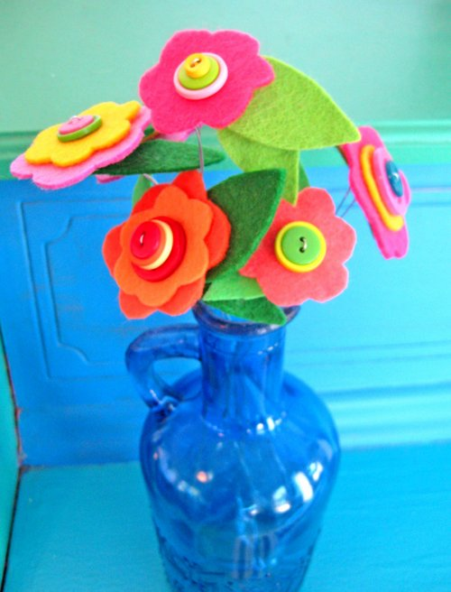 button flower bouquet 1