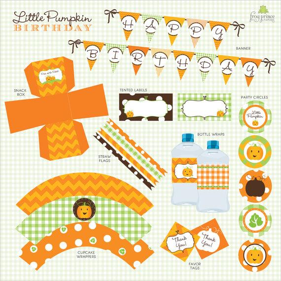 Our Lil' Little Pumpkin Patch Custom Birthday Pack - DIY Printable as seen on Hostess Blog