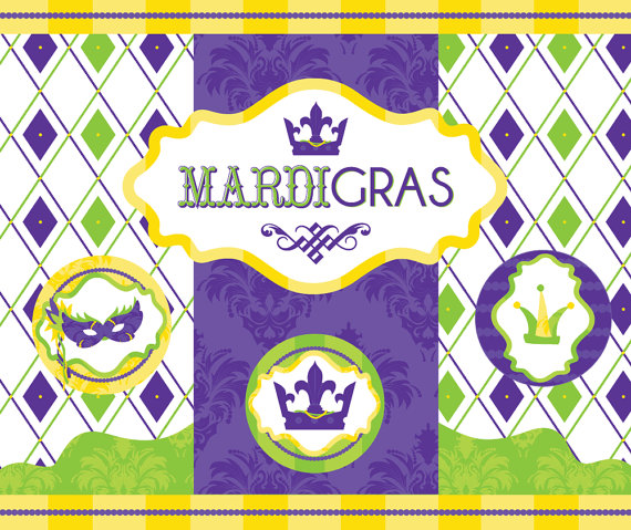 Mardi Gras Printable Party as seen in YUM Food and Fun For Kids Magazine
