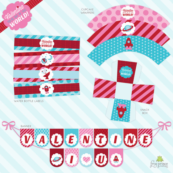 Out of this World Valentine Printable Party - Outer Space