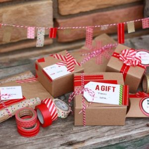 Washi Tape Gift Packaging Ideas