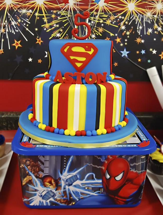 Real Party Superhero Birthday Aston S Amazing Day Frog Prince