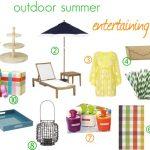 Outdoor Summer Entertaining