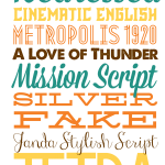 A Tiny Bit of Typography: Free Fall Fonts