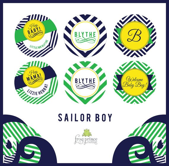 Nautical Sailor Chevron Baby Shower - DIY