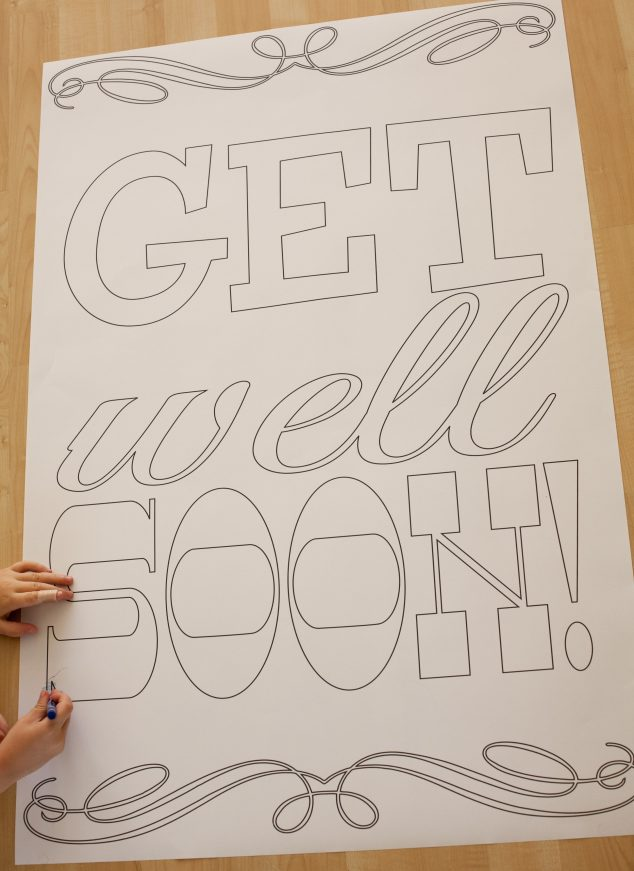 Persnickety image within free printable get well soon cards