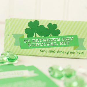 St. Patrick's Day Survival Kit – Free Printable!