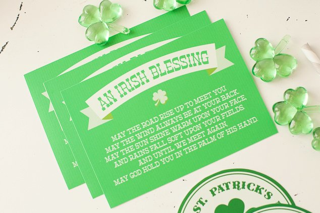 St. Patrick's Day free printable - Irish Blessing