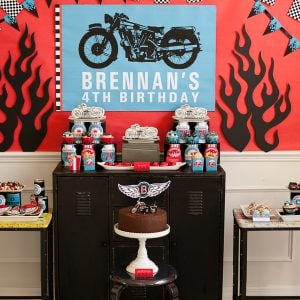 Motorcycle Birthday Party – A Boy's Birthday Biker Rally!