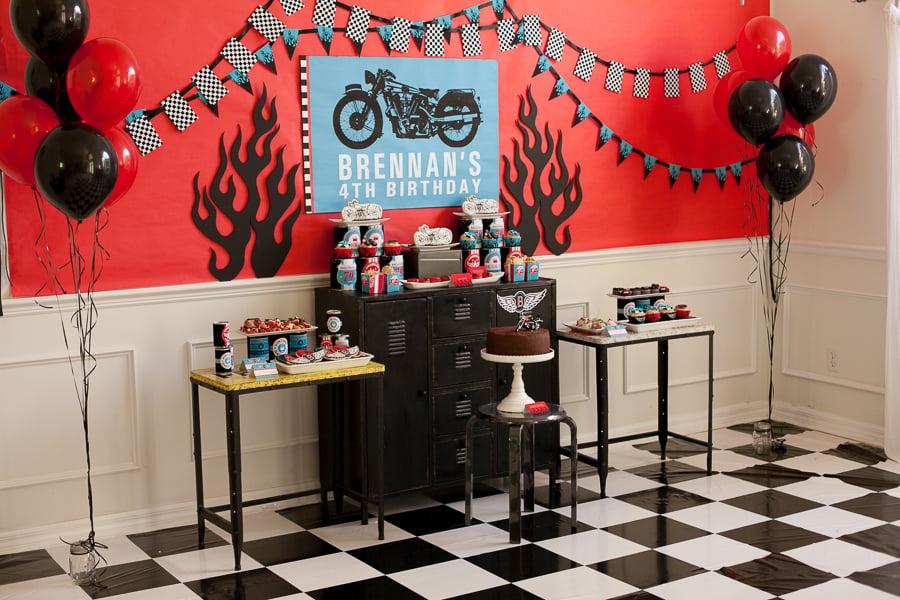 Motorcycle Birthday Party A Boy S Birthday Biker Rally