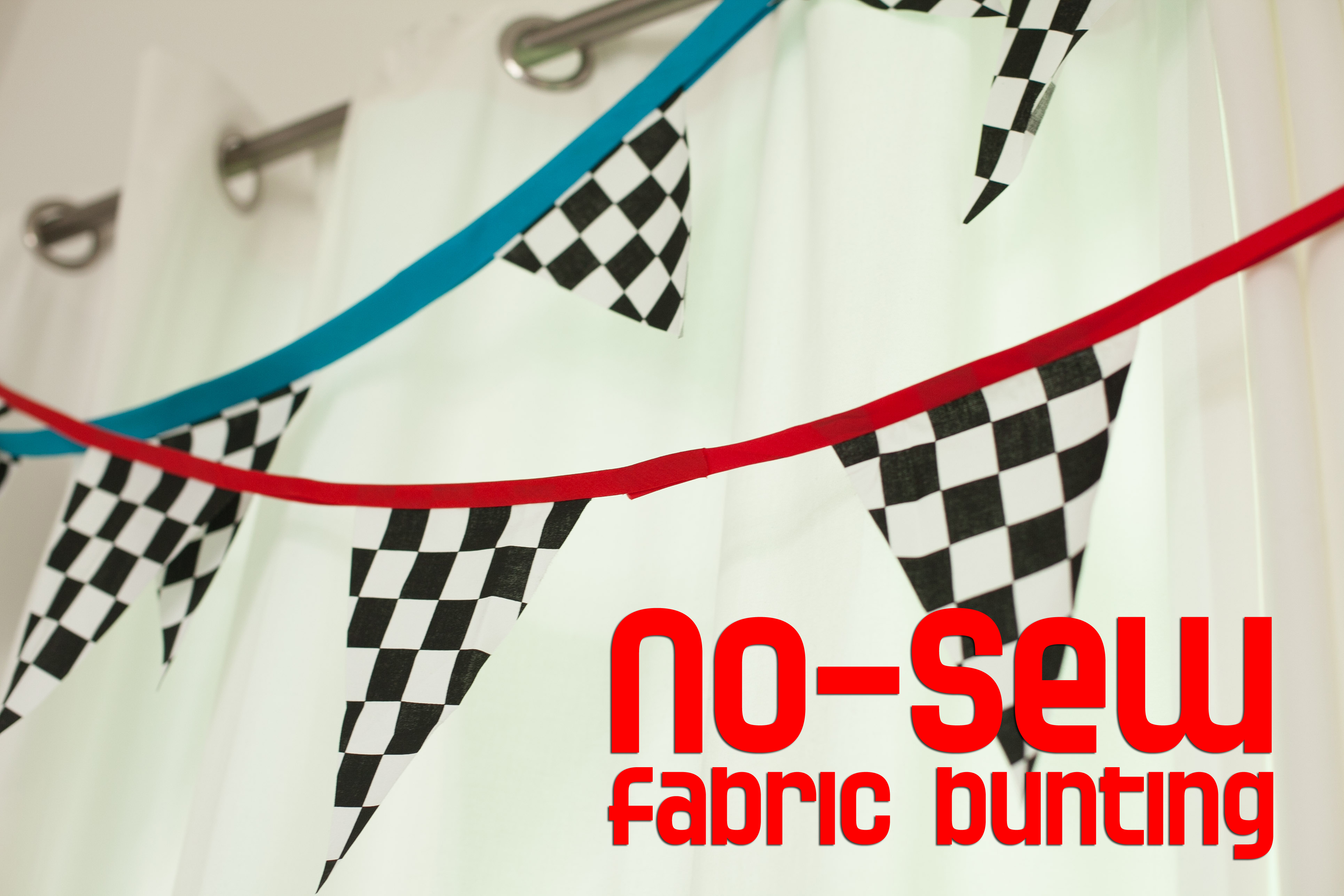 No Sew Banner Bunting Tutorial Frog Prince Paperie