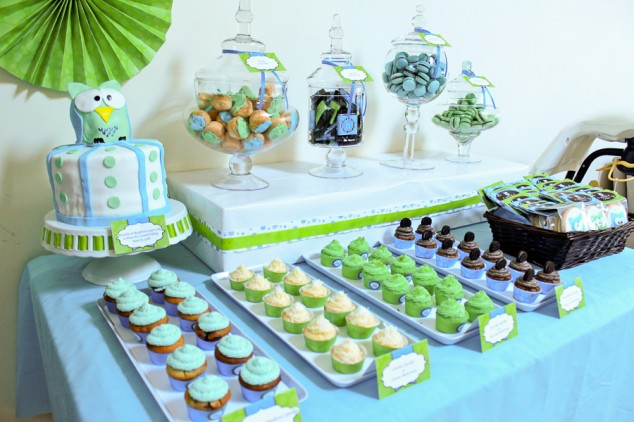 owl baby shower real party frog prince paperie