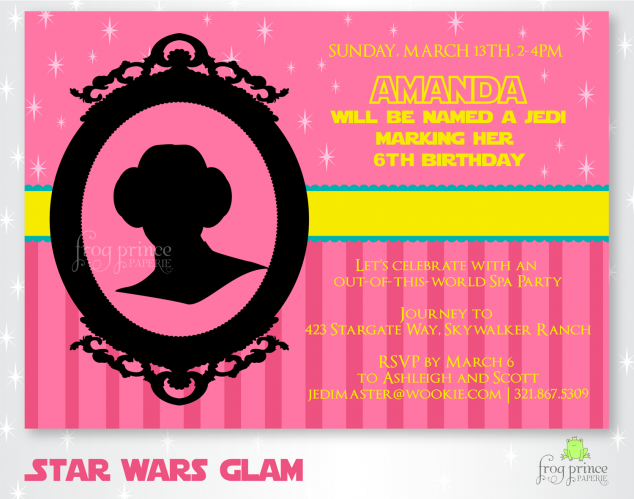 01 Star Wars Glam invite