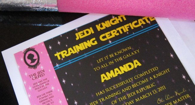 31 Star Wars Glam Jedi Training certificate 2