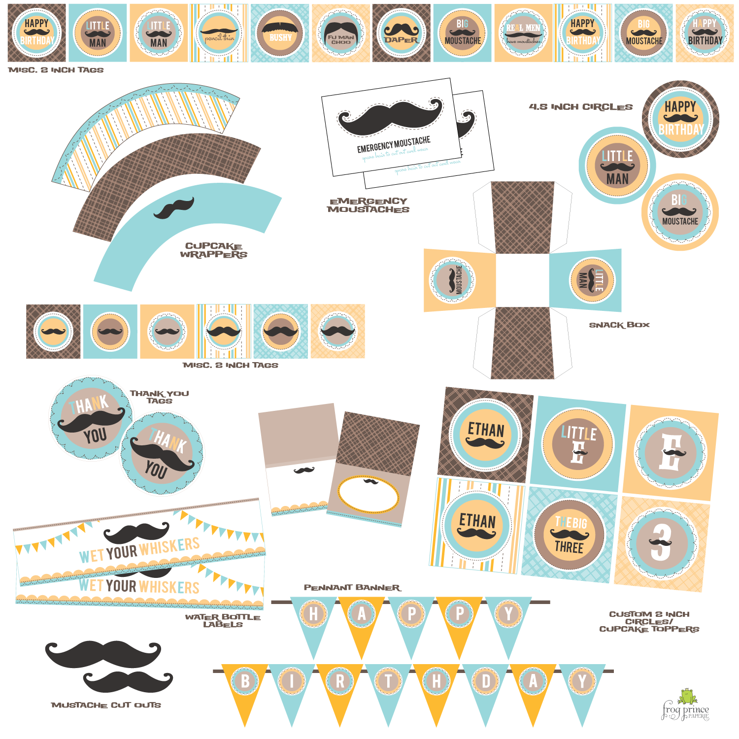 are perfect for a mustache bash baby shower or mustache bash birthday
