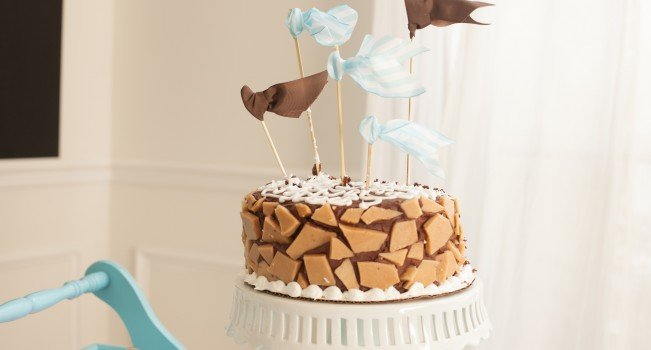 chocolate ganache toffee cake-4
