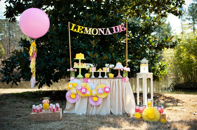 Pink Lemonade Stand Party - Frog Prince Paperie