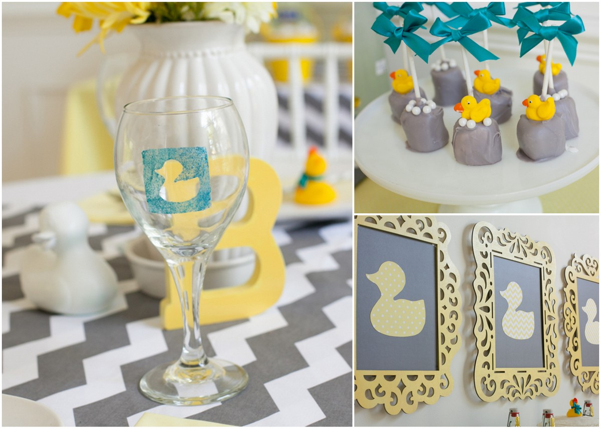 A Modern Duck Baby Shower Frog Prince Paperie