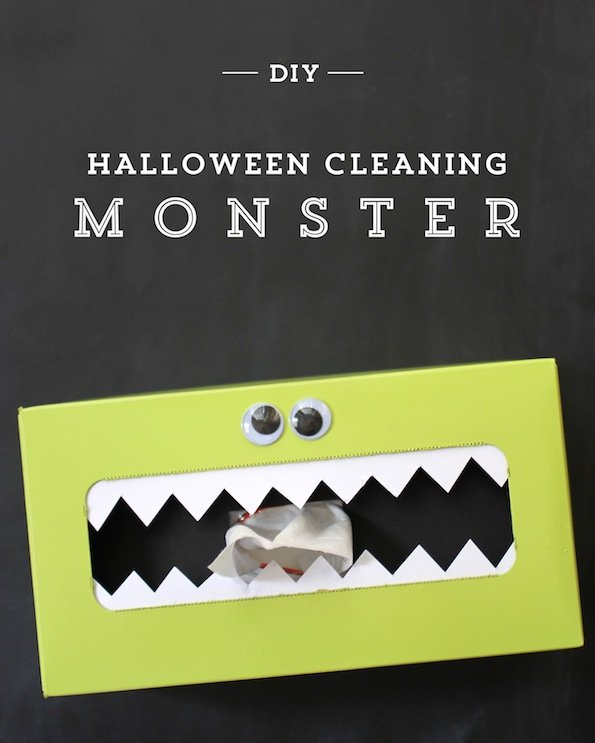 DIY-Halloween-Cleaning-Monster
