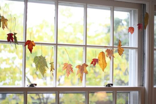 Thanksgiving, project, fall, leaves, craft