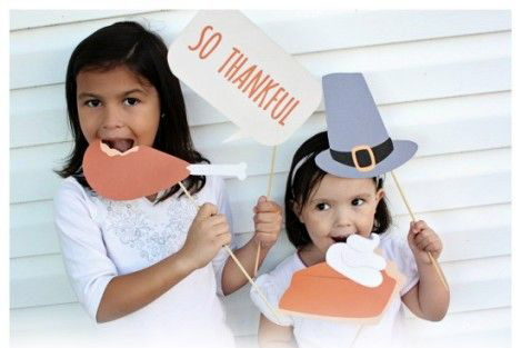 thanksgiving, craft, family, activity, photo prop
