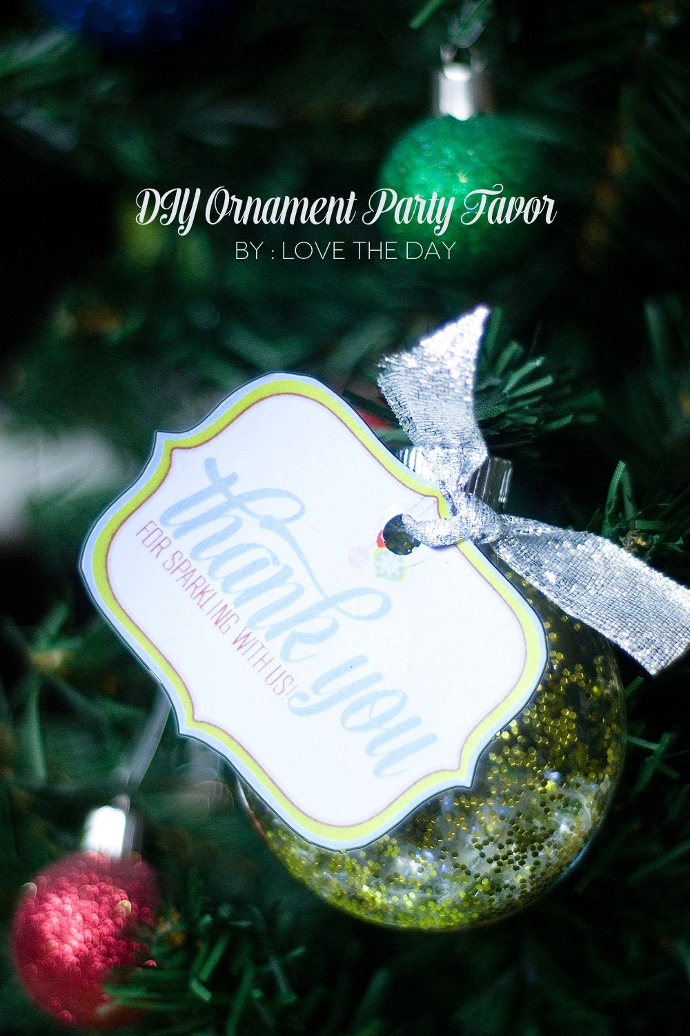 handmade photo ornament ideas - Handmade Holiday DIY Party Decorations Frog Prince Paperie
