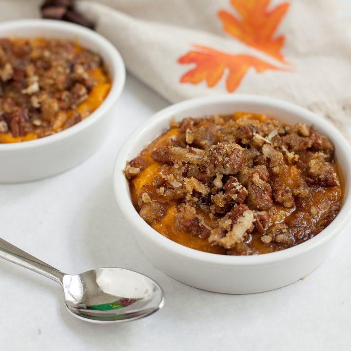 gluten free holiday side dish - - sweet potato soufflé