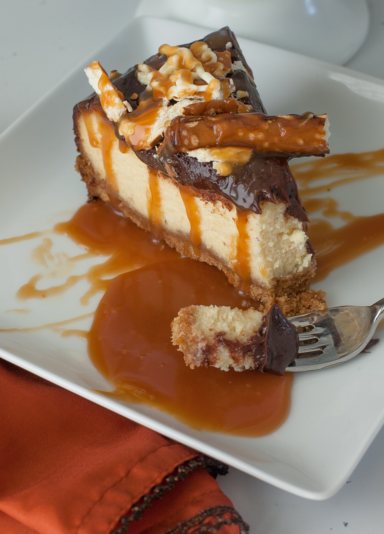 Chocolate Salted Caramel Pretzel Cake