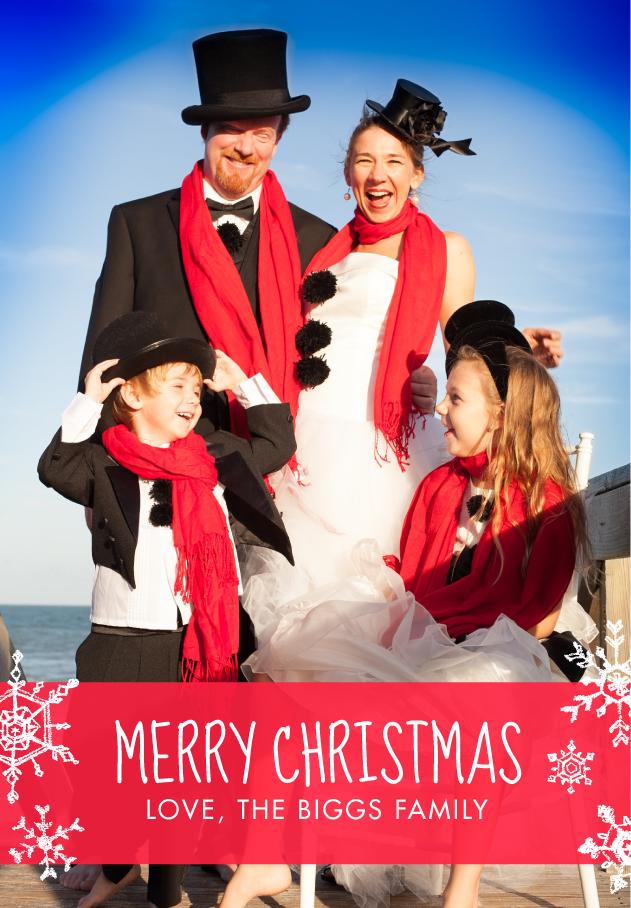 Creative christmas card family photos frog prince paperie for Cute creative christmas cards