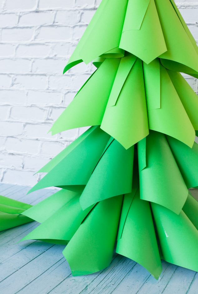 christmas paper cone tree-11