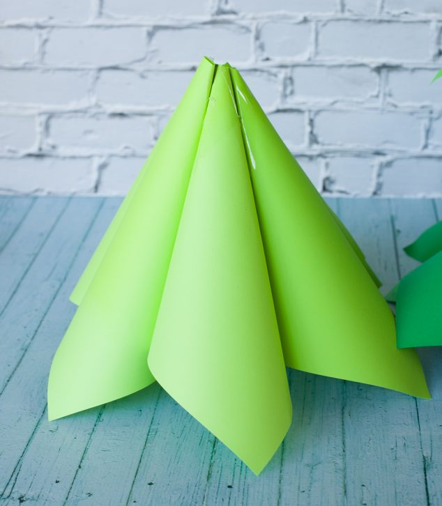 christmas paper cone tree-13