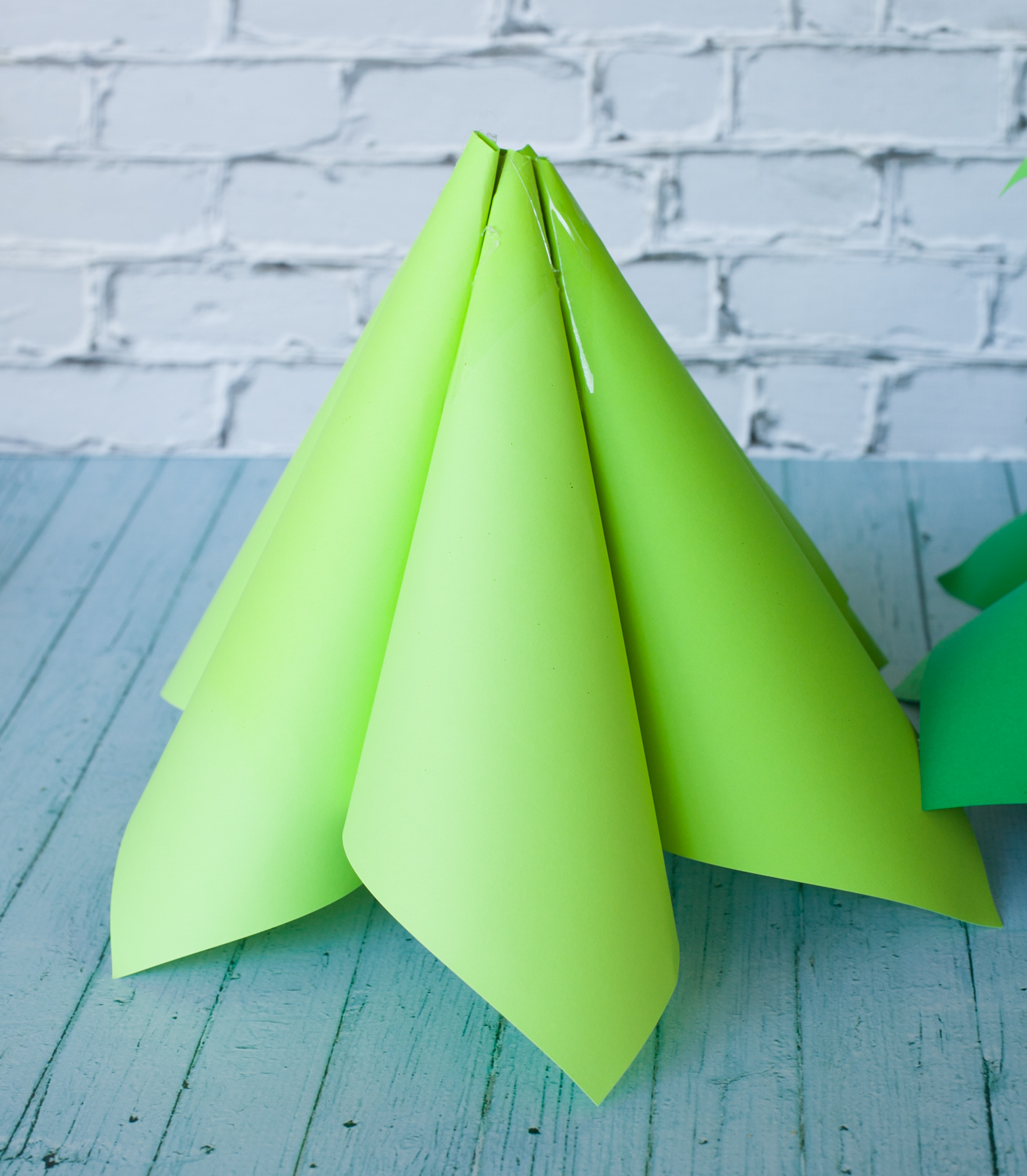 Giant Ombre Paper Cone Christmas Trees - a DIY Tutorial ...
