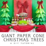 Giant Ombre Paper Cone Christmas Trees – a DIY Tutorial and How-To